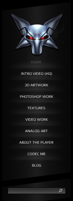 Navbar for portfolio site